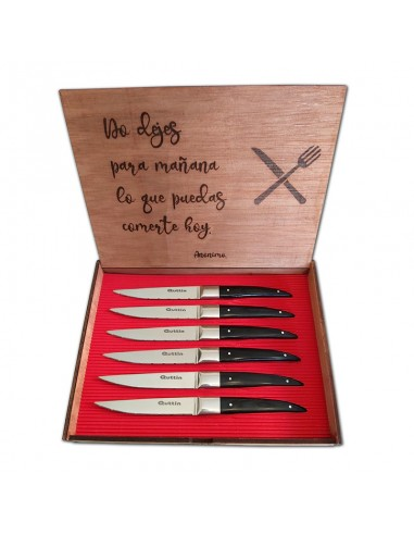 Set 6 Cuchillos Chuleteros Buffalo en...